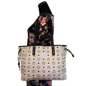 MCM Bags | Medium Reversible Liz Shopper Red | Poshmark